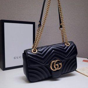 💕NWT GUCCI GG Marmont Gmall Matelassé 443497 Bag
